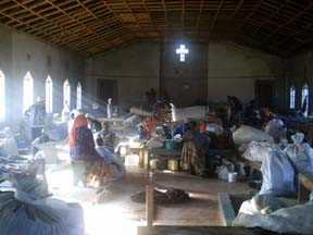 Victims reside in church in Molo, Kenya
